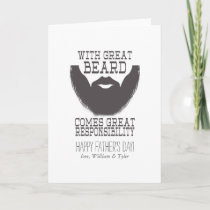 Father's Day Beard Card