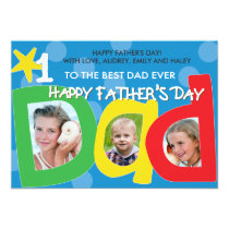 Father's Day Best Dad Ever Dots Card