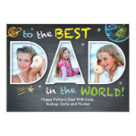 Father's Day Best Dad in the World 5x7 Paper Invitation Card