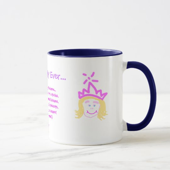 "Father's Day ""Best Daddy Ever"" Pink Princess gift Mug"