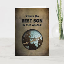 FATHER'S DAY - BEST SON IN THE WORLD (BLUE WORLD) CARD