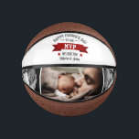 """Father's Day/Birthday Dad Grandpa MVP Photo Mini Basketball<br><div class=""""desc"""">The perfect personalized gift for your father,  father-to-be,  new father,  husband,  grandfather on Father's Day,  your wedding day or birthday. Customize with your own personal message and family photos.</div>"""
