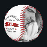 "Father's Day/Birthday From Kids MVP Photo Baseball<br><div class=""desc"">The perfect personalized gift for your father,  father-to-be,  new father,  husband,  grandfather on Father's Day,  your wedding day or birthday. Customize with your own personal message and family photos.</div>"