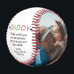 """Father's Day/Birthday From Kids to Dad Photo Baseball<br><div class=""""desc"""">The perfect personalized gift for your father,  father-to-be,  new father,  husband on Father's Day,  your wedding day or birthday. Customize with your own personal message and family photos.</div>"""