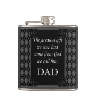 "Father's Day - Birthday ""Greatest Gift We"" Hip Flask"