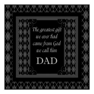 """Father's Day - Birthday """"Greatest Gift We"""" Poster"""