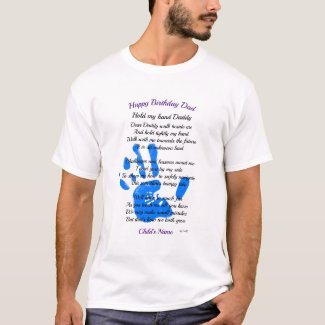 Fathers Day / Birthday POEM Gift from Toddler T-Shirt