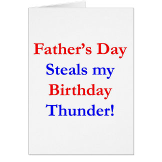 Father's Day Birthday Thunder Greeting Card