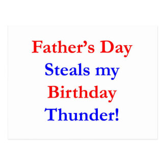 Father's Day Birthday Thunder Postcard