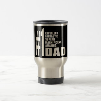 Fathers Day Birthdays Christmas Number One Dad 15 Oz Stainless Steel Travel Mug