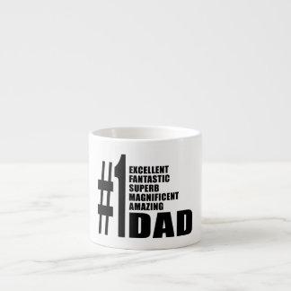 Fathers Day Birthdays Christmas Number One Dad 6 Oz Ceramic Espresso Cup