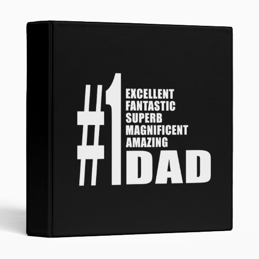 Fathers Day Birthdays Christmas Number One Dad Binders
