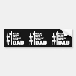 Fathers Day Birthdays Christmas Number One Dad Car Bumper Sticker