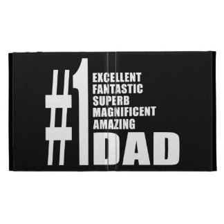Fathers Day Birthdays Christmas Number One Dad iPad Folio Covers