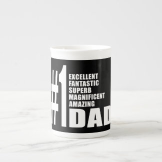 Fathers Day Birthdays Christmas Number One Dad Porcelain Mugs
