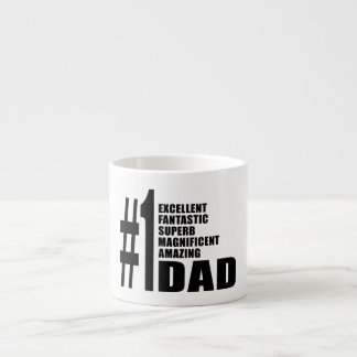 Fathers Day Birthdays Christmas Number One Dad Espresso Cups