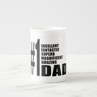 Fathers Day Birthdays Christmas Number One Dad Porcelain Mug