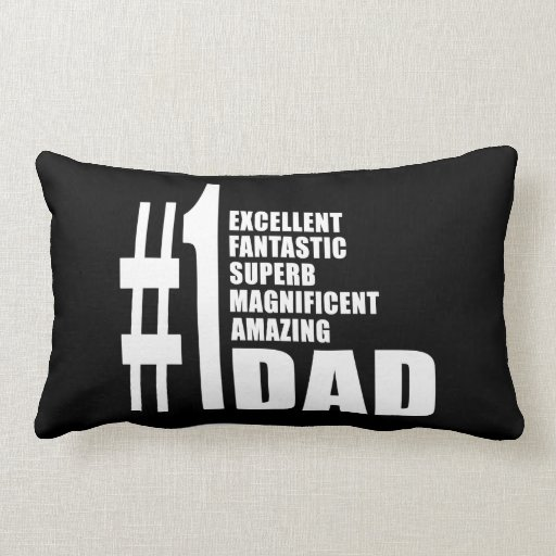 Fathers Day Birthdays Christmas Number One Dad Throw Pillows