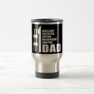 Fathers Day Birthdays Christmas Number One Dad Travel Mug
