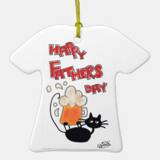 Fathers Day black cat Ceramic T-Shirt Decoration