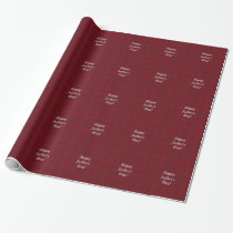 Father's Day Black & red plaid design gift wrap .