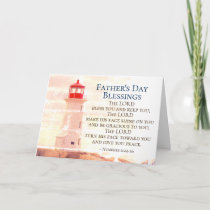 Father's Day Blessings, Numbers 6:24 Lighthouse Card