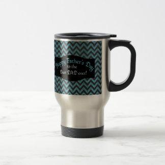 Father's Day Blue Black Chevrons Mug