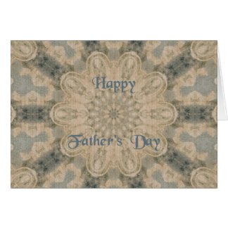 Father's Day ~ Blue Brown Pattern Card