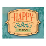 Father's Day Blue Greeting Image Post Card