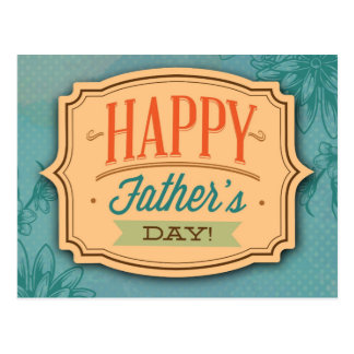 Father's Day Blue Greeting Image Postcard