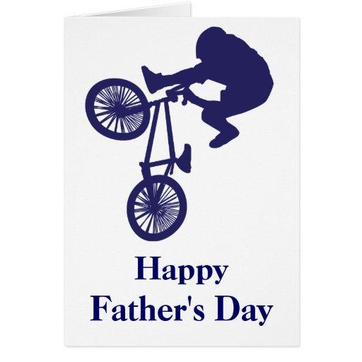Father's Day BMX Bike Rider Greeting Card