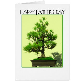 Father's day bonsai greeting card