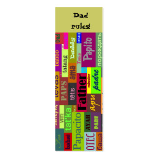 Father's Day Bookmark Double-Sided Mini Business Cards (Pack Of 20)