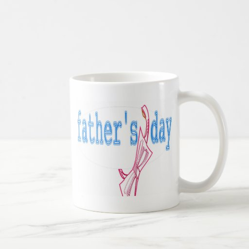 FATHER'S DAY BOW COFFEE MUGS