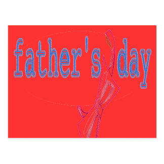 FATHER'S DAY BOW POSTCARD