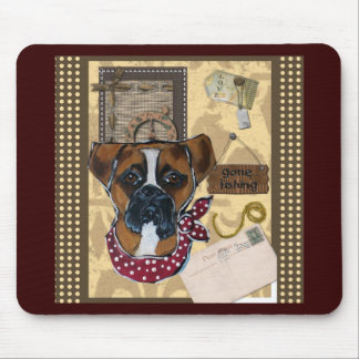 FATHER'S DAY BOXER DOG MOUSE PAD