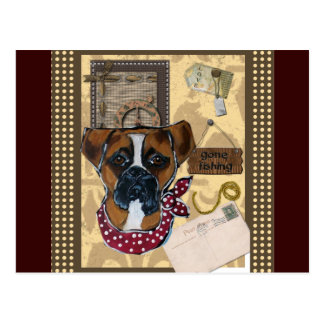 FATHER'S DAY BOXER DOG POSTCARD