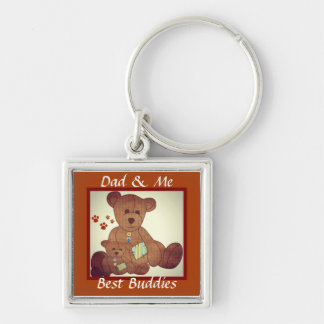 Father's Day Brown Bear Family Best Buddies Key Chains