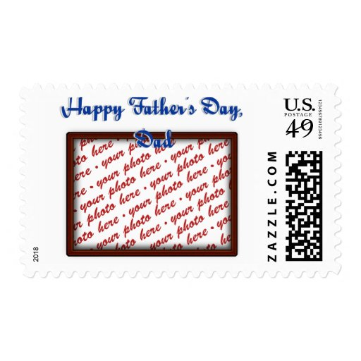 Father's Day Brown Photo Frame Stamps