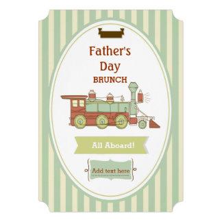 Fathers Day Brunch Train Invite