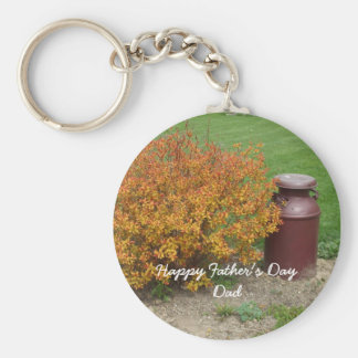Father's Day Bush and Milk Container Keychain
