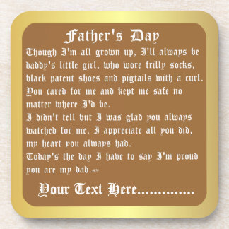 Fathers Day by Martha Valencia view about Design Beverage Coaster