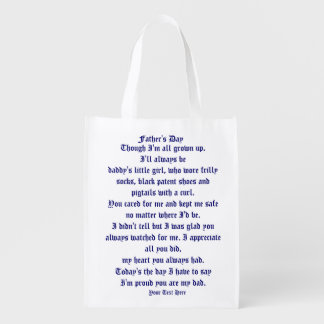 Fathers Day by Martha Valencia view about Design Grocery Bags