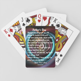 Fathers Day by Martha Valencia view about Design Playing Cards