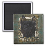 Fathers Day - Cairn Terrier - Rosco 2 Inch Square Magnet