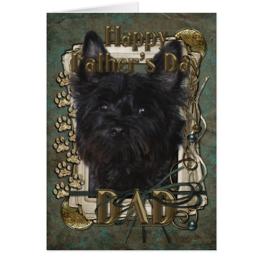 Fathers Day - Cairn Terrier - Rosco Greeting Card