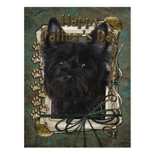 Fathers Day - Cairn Terrier - Rosco Postcard