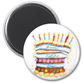 Father's Day Cake Magnet