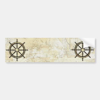 Fathers Day - Captains Wheel Car Bumper Sticker