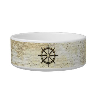Fathers Day - Captains Wheel Cat Water Bowls